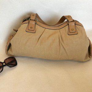 Fossil Beige Canvas Purse - Shoulder Bag